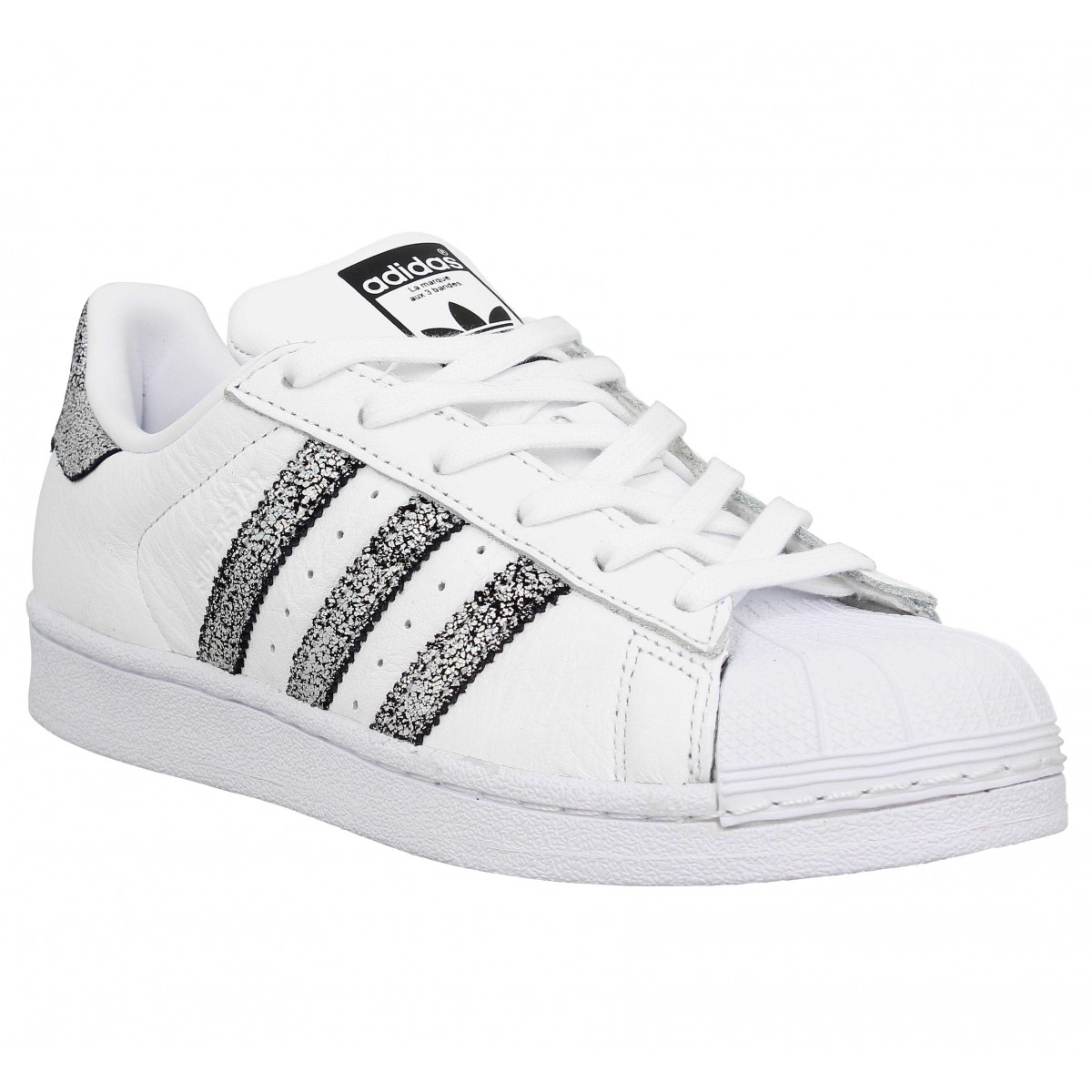 Réduction authentique adidas cuir femme Baskets panier bio