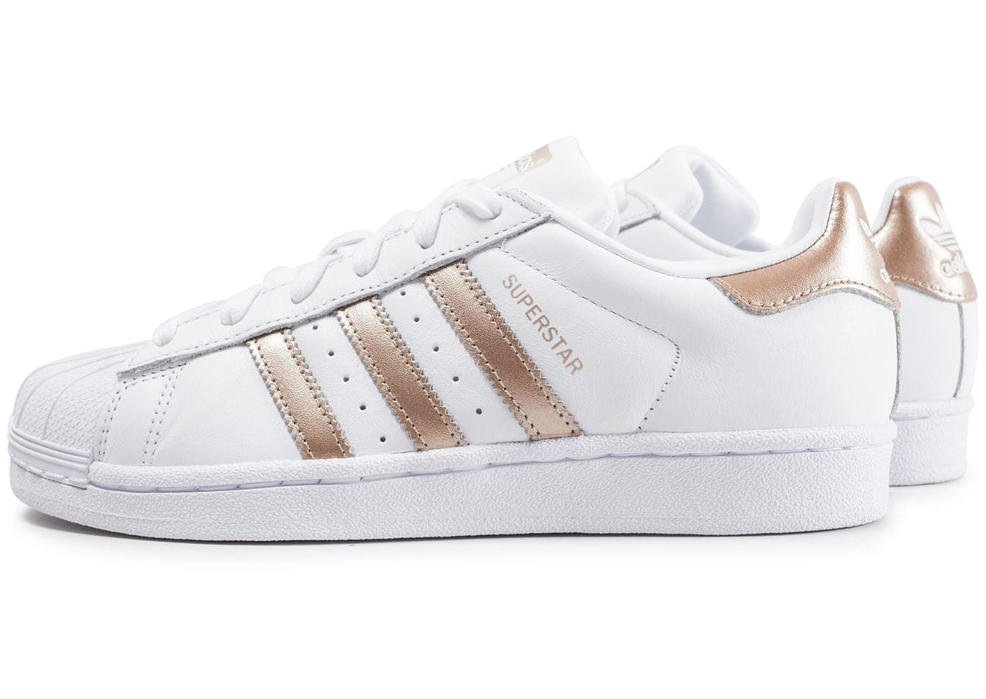 Baskets Superstar adidas Originals femme Pointillé Blanc
