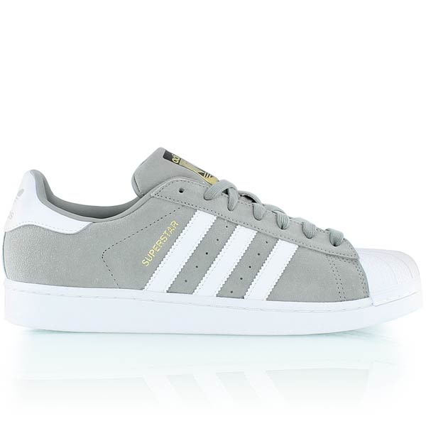 3a7080233252 Réduction authentique adidas superstar blanche et grise Baskets ...
