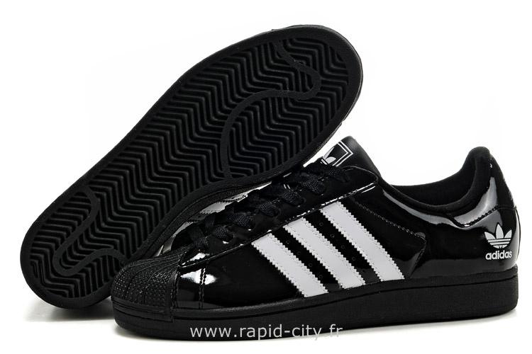 adidas superstar noir brillante