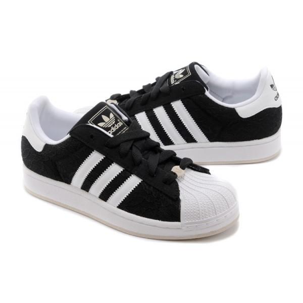 adidas noir et blanche pas cher