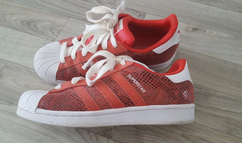 super populaire a408e 45678 Réduction authentique adidas superstar rouge croco Baskets ...
