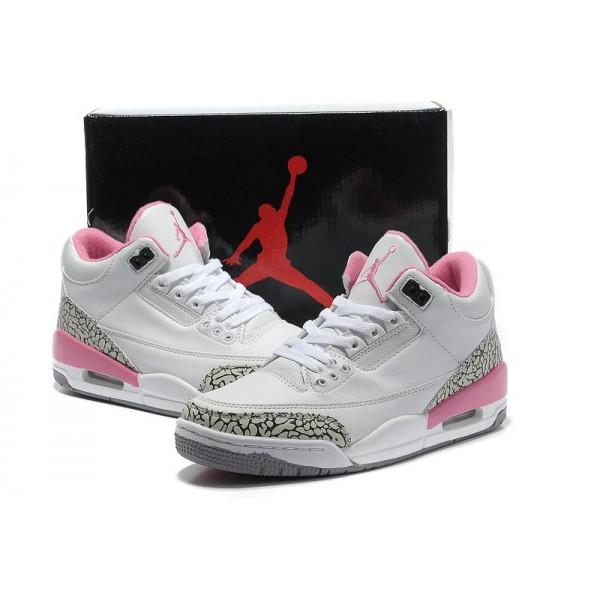 Réduction authentique air jordan rose et blanche Baskets - panier ...
