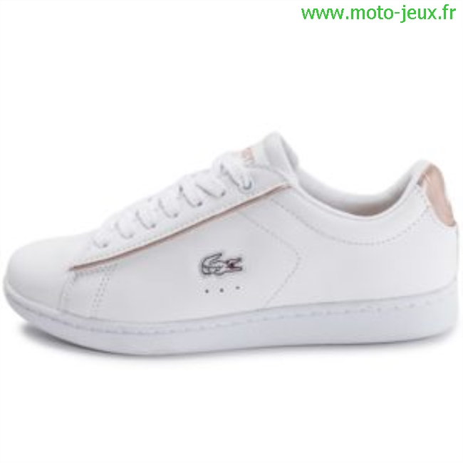 Réduction authentique basket lacoste femme blanc et rose Baskets ... c88fd1923c92